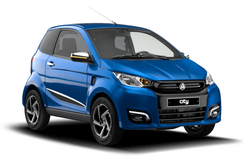 eAixam Ecity Premium blauw brommobiel